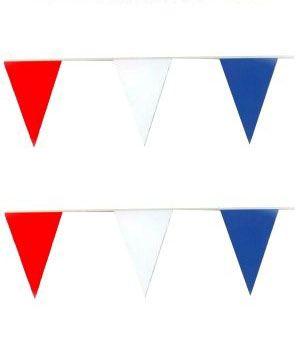 Vlaggenlijn rood wit blauw 60m Nederland