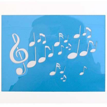 PXP Schmink-sjabloon muzieknoten