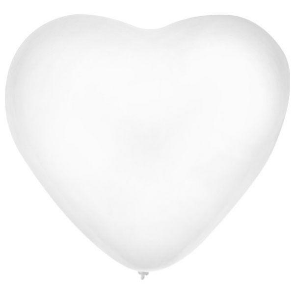 Ballon Hart x 36 Wit 32 cm