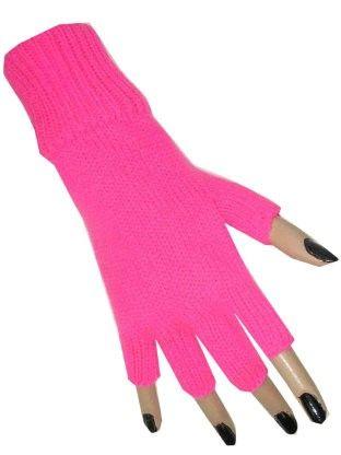 Vingerloze handschoen roze