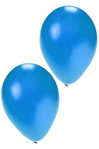 Kwaliteitsballonnen metallic blauw 36 cm