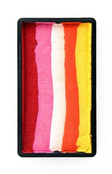 One Stroke splitcake rood pink wit oranje geel schmink PXP