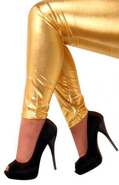 Legging metallic goud voor meisjes