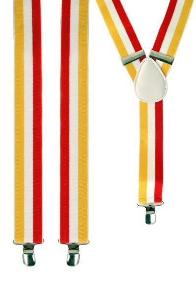 Bretels rood wit geel