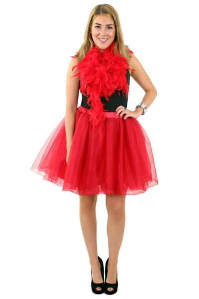 Tule rock & roll rok rood