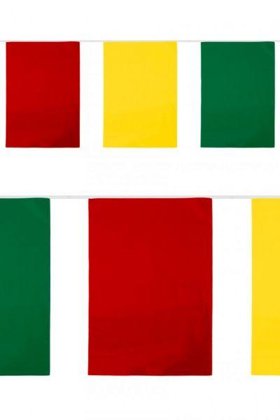 PVC vlaggenlijn rechthoek rood-geel-groen