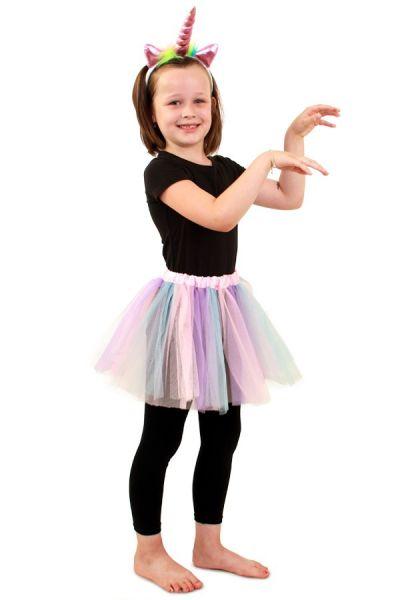 Tule jurkje pastel unicorn meisje