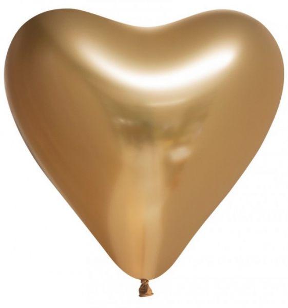 Ballon Hart goud chrome
