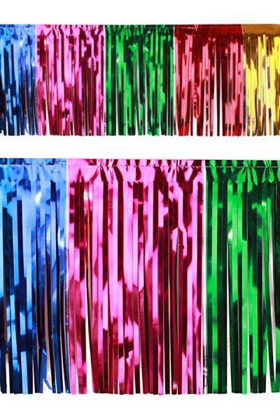 PVC slierten folie guirlande multicolour