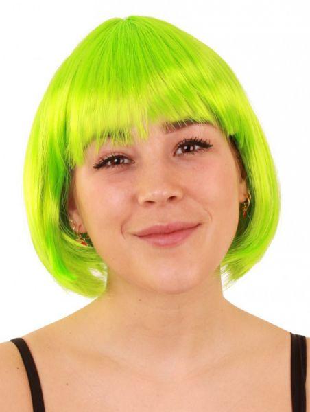Bobline dames pruik neon groen sensation