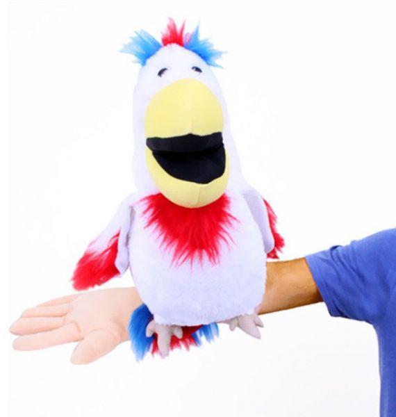 Buikspreekpop papegaai