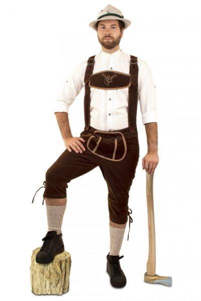 Oktoberfest Lederhose Tirolerbroek lang suèdine