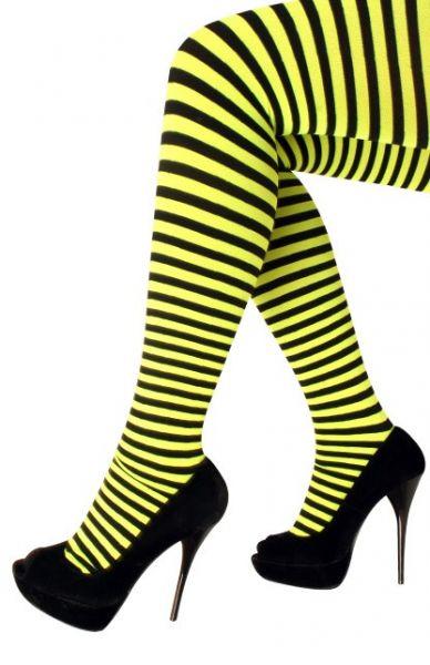 Panty geel zwart gestreept bijen