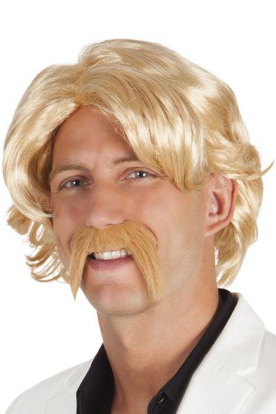 Herenpruik met snor blond