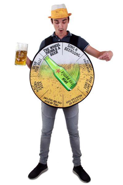 Vrijgezellenfeest bierrad grappig kostuum