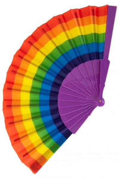 Handwaaier regenboog kleuren
