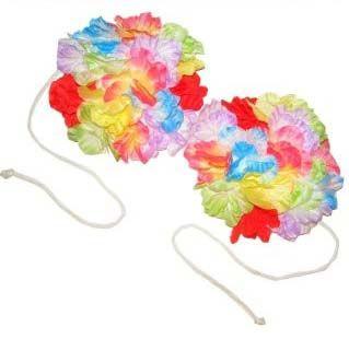 Hawaiiaanse BH met gekleurde bloemen