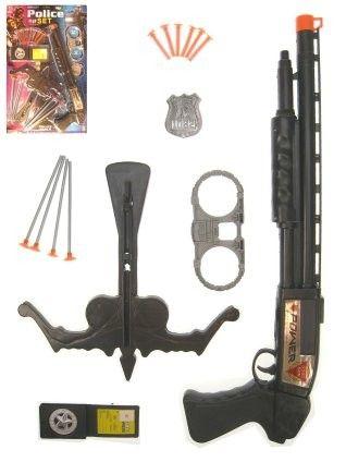 Politie set geweer handboeien