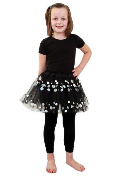 Tule jurkje zwart met dots meisjes