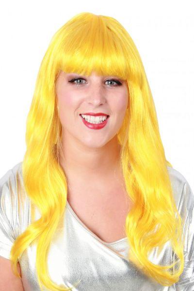 Dames pruik lang stijl haar geel