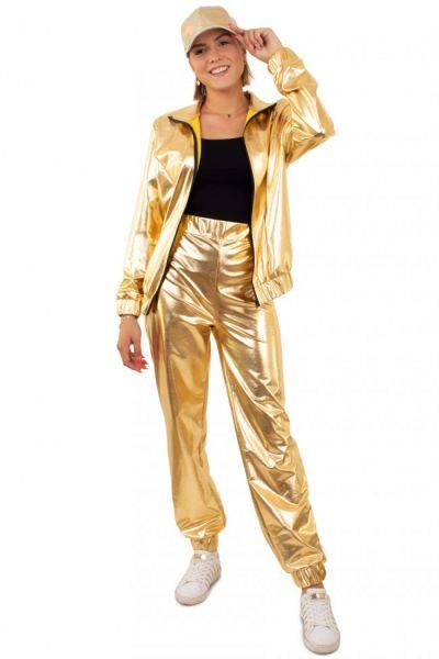 Gouden 80s Trainingspak dames