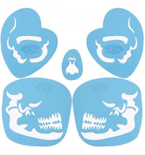 Schmink-sjabloon Tribel Skull