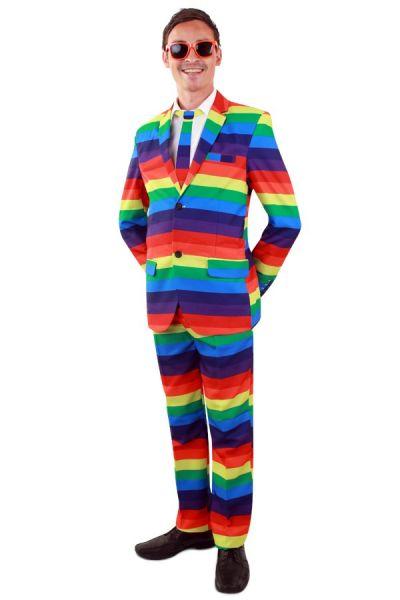 Kleurig Regenboog kostuum man