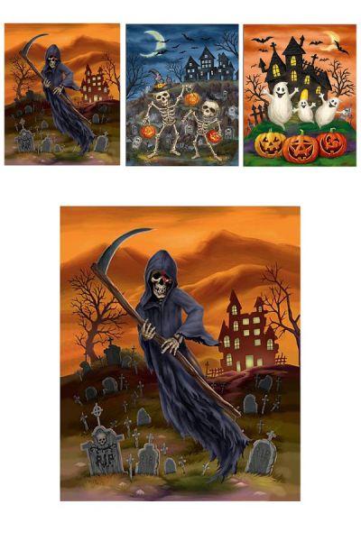 Horror Halloween 3 D raamstickers