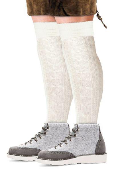 Oktoberfest Tiroler sokken lang wit