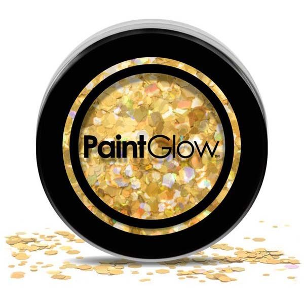 Chunky cosmetic glitters Goud Digger PaintGlow