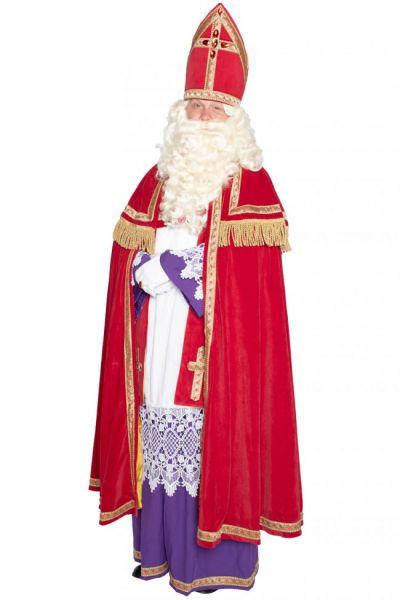 Sinterklaas kostuum polyeterfluweel
