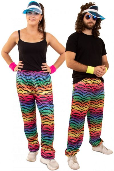 Hippie Trainingsbroek neon tijgerprint
