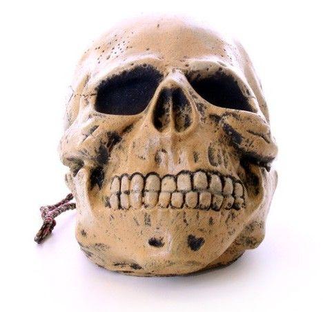Rubber schedel aan touw