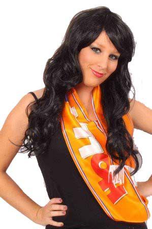 Sjaal satijn oranje Holland