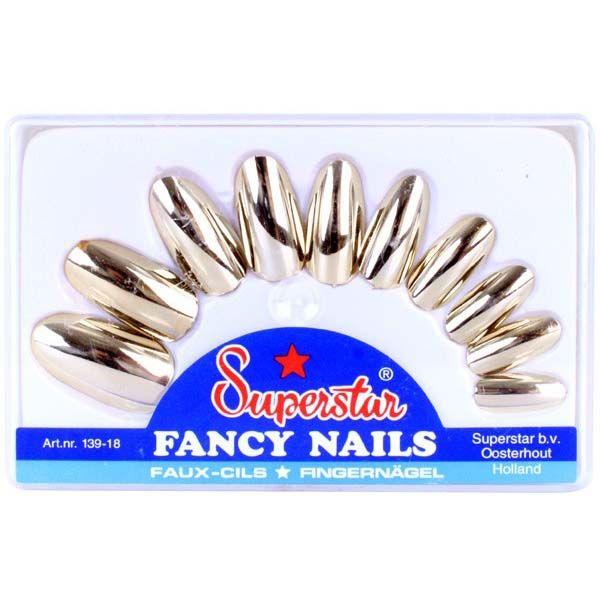 Nepnagels metallic goud valse nagels
