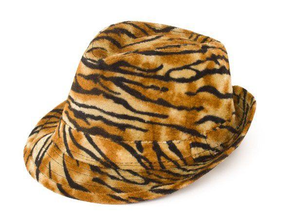 Gangster pimp tijgerprint hoed