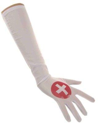 Verpleegster handschoenen zuster satijn