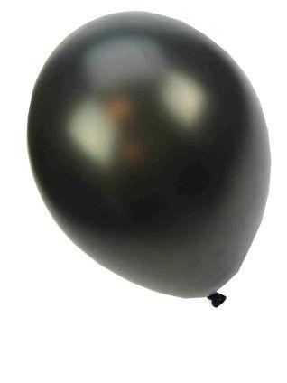 Kwaliteitsballon metallic zwart 36 cm