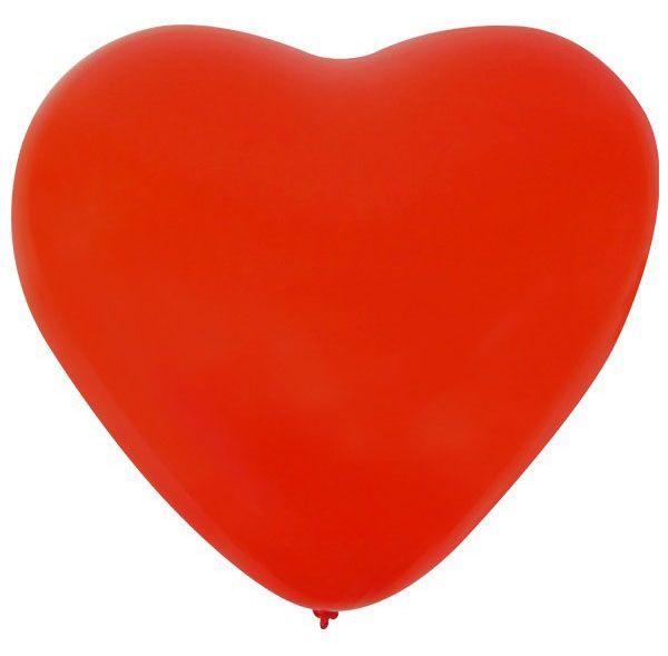 Ballon Hart x 36 Rood 32 cm
