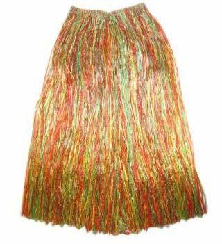 Hawaiiaanse rok lang gekleurd