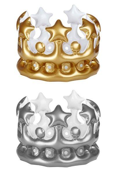 6 opblaasbare kronen zilver goud