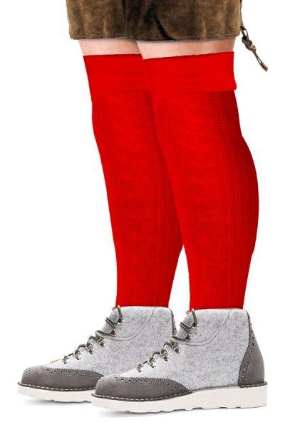 Oktoberfest Tiroler sokken lang rood