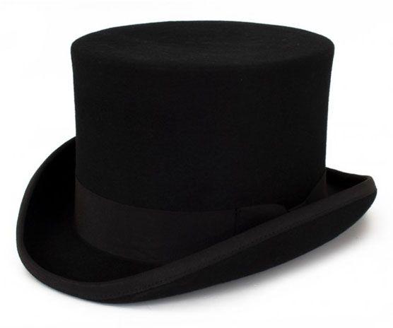 Zwarte cilinder hoed