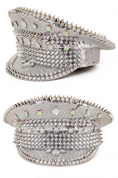 Glimmende Bling Spikes zilveren pet