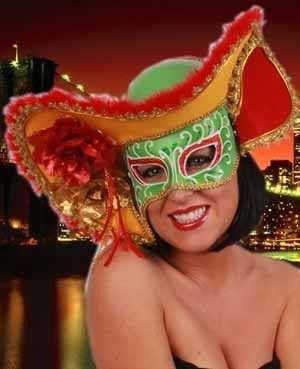 Venetiaanse hoed met oogmasker dame carnaval