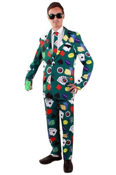 Grappig Poker face kostuum