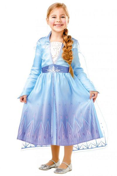 Meisjes jurk van Elsa uit de kaskraker Frozen 2