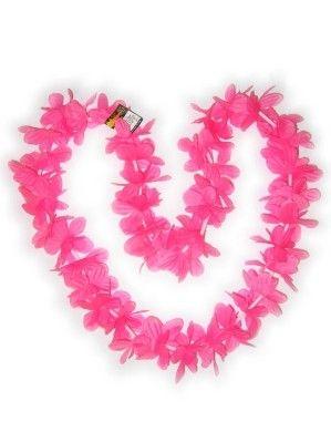 Hawaii halsketting roze kransen 12 stuks