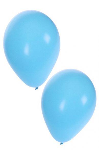 Lichtblauwe heliumballonnen