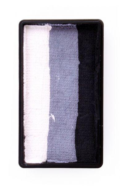 PXP splitcake kleuren zwart grijs wit schmink